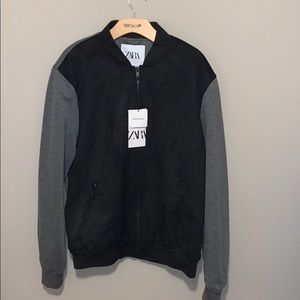Men's Zara suede zip up jacket. Size large